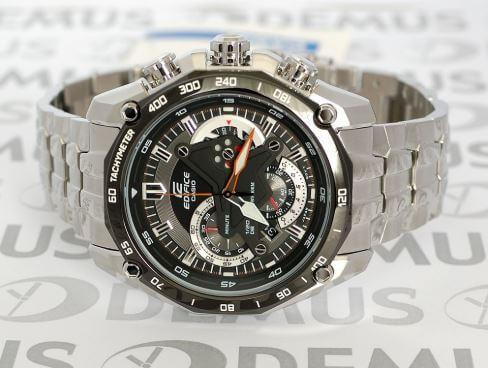 Đồng hồ casio edifice efr-550d-1a có thiết kế họa tiết địa cầu