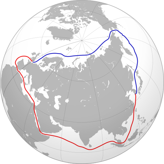 Suez Canal vs. Northwestern Passage in Canada