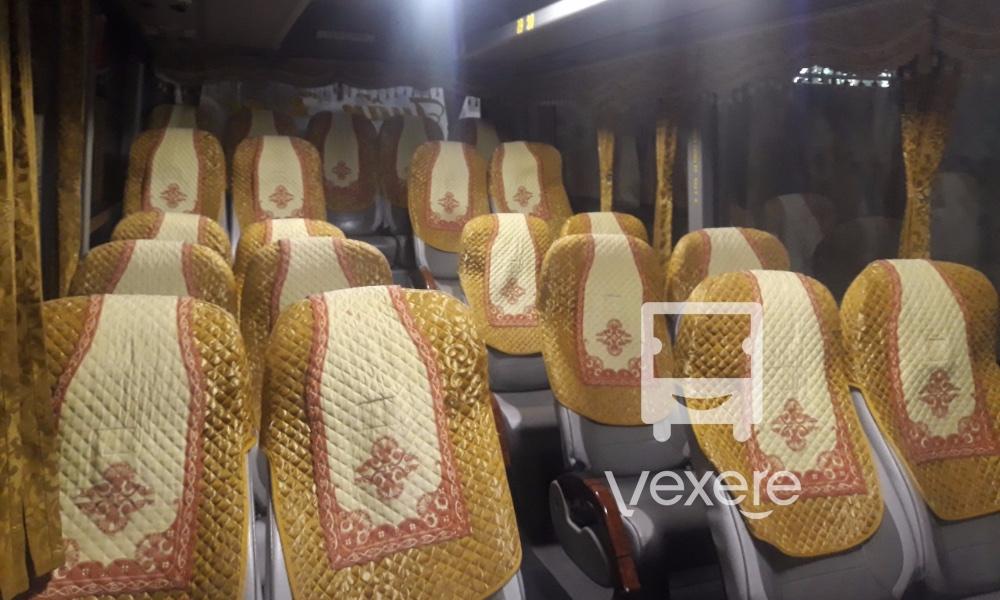 Nội thất xe Hiền Vân đi Bến Tre từ Hà Tiên