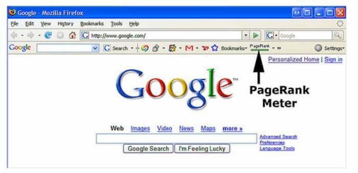 Hiển thị pagerank cũ của Google hiện được thay thế bởi cơ quan quản lý miền