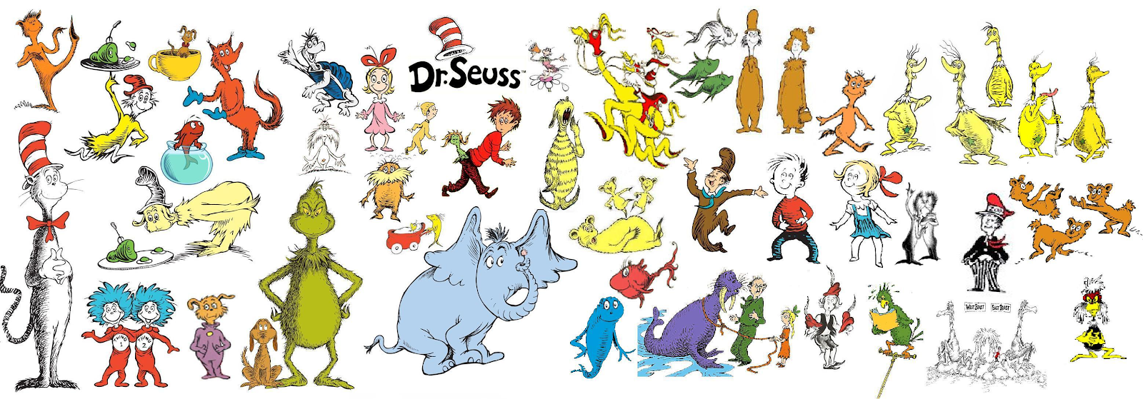 Picture of Dr. Suess characters