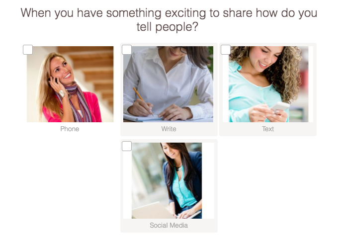 How do you share exciting news question