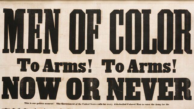 Anuncio durante la Guerra Civil de EEUU para reclutar a afroamericanos.