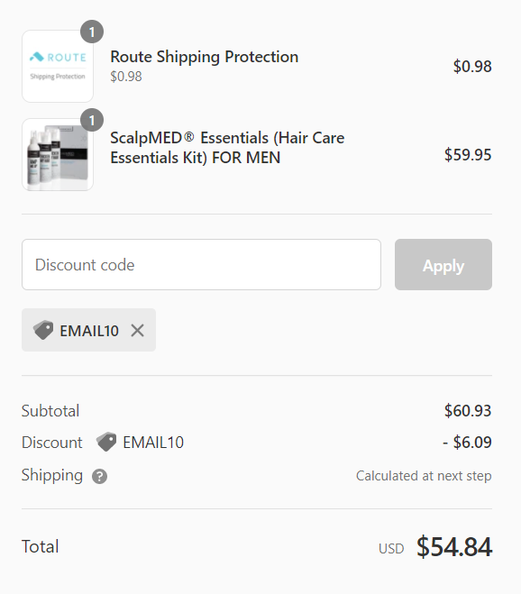 Real discount of Scalp Med Coupon code on products