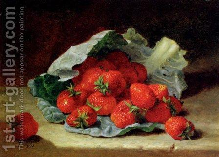 Strawberries On A Cabbage Leaf by Eloise Harriet Stannard - Reproduction Oil Painting