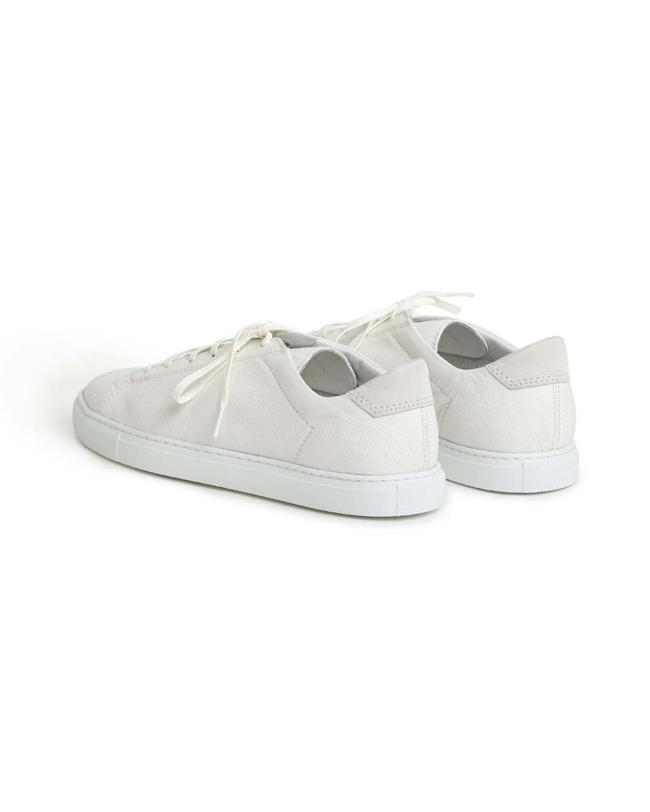 """CQP Racquet Sneaker White Leather"" รองเท้ามินิมอลสไตล์สแกนดิเนเวียน 03"