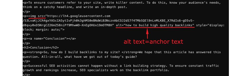internal link anchor text