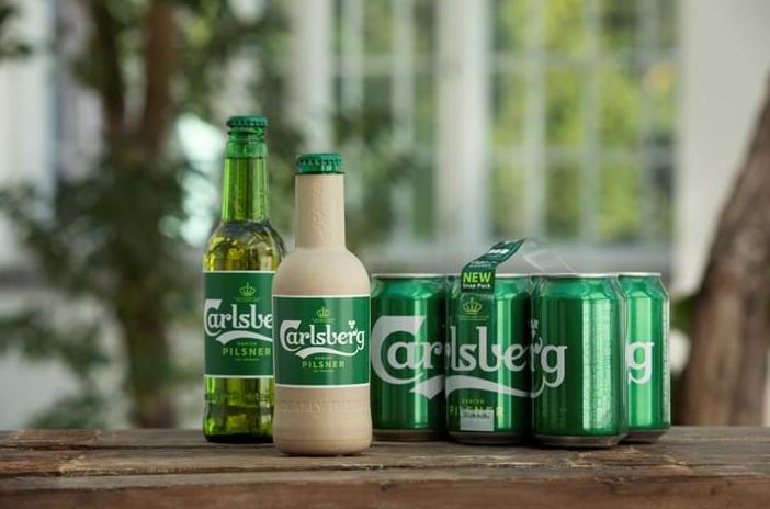 butelki papierowe, papierowe butelki - Carlsberg