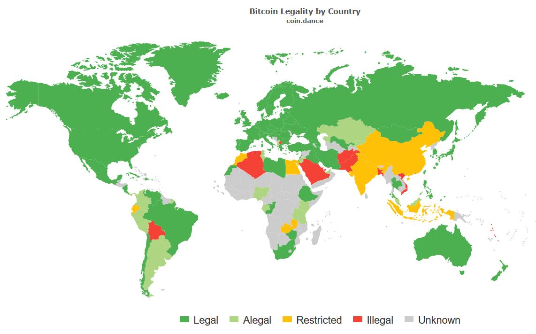 bitcoin status legale)