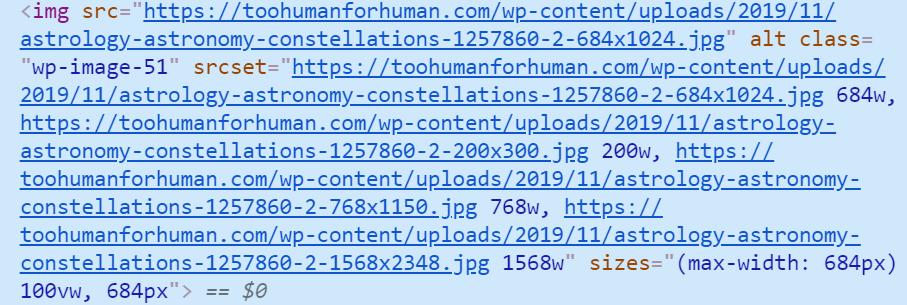 WordPress Image code