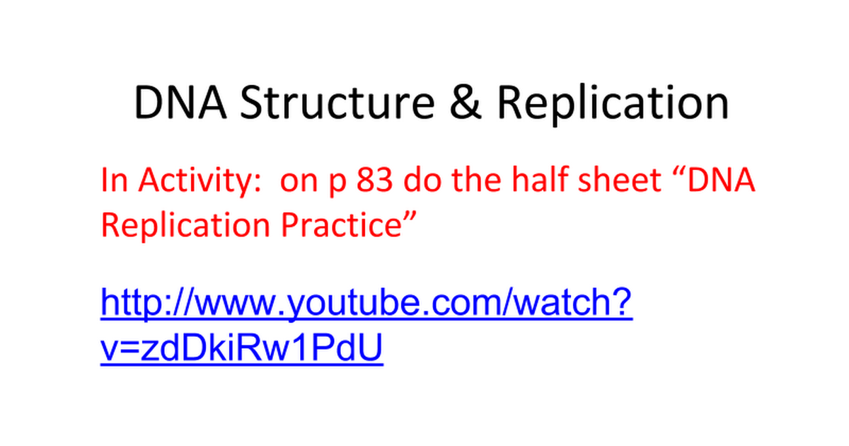 Dna Structure Replication Comic Strip Notes 1 Google Slides