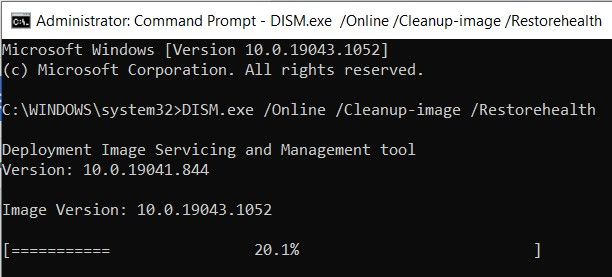Command line for fixing detected corrupt files
