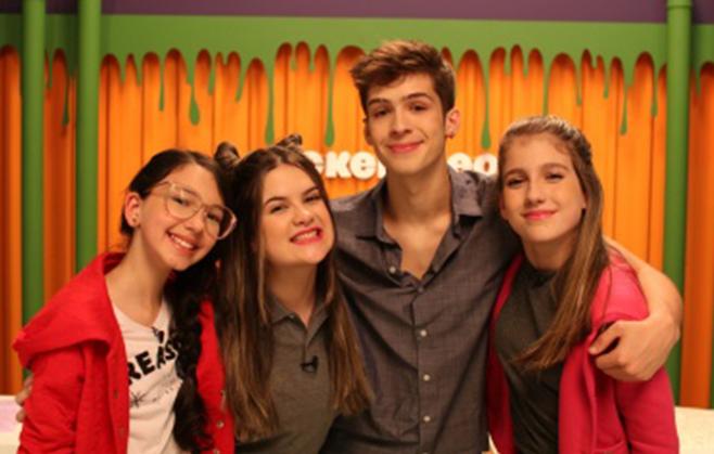 Luluca, Carol Teixeira, João Guilherme e Sofia Furlani - Foto de Divulgação Nickelodeon
