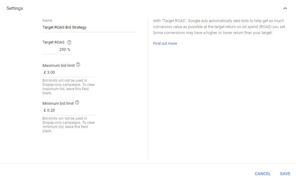 Setting maximum and minimum cpcs in Google Ads
