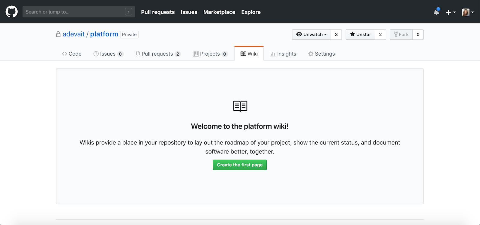 GitHub wikis