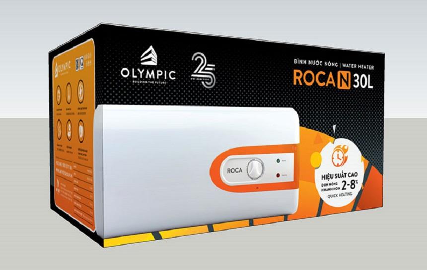 Lắp đặt bình nóng lạnh Olympic Roca có khả năng làm nóng nhanh 8-15%