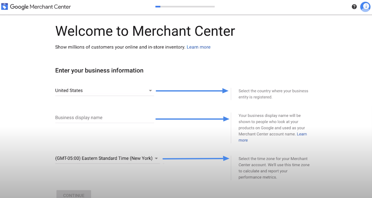 business information-WooCommerce google product feed