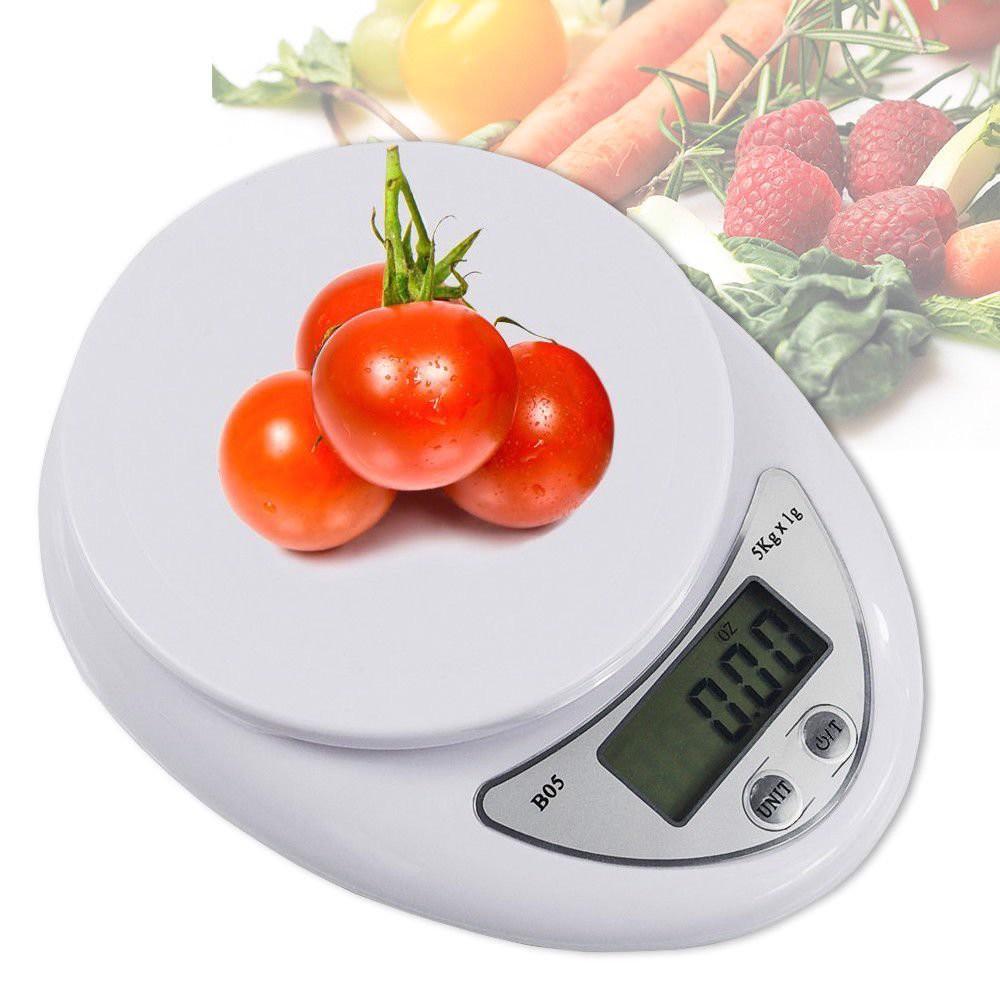 Cân nhà bếp thường sử dụng các loại cân có mức cân lớn nhất khoảng 5kg