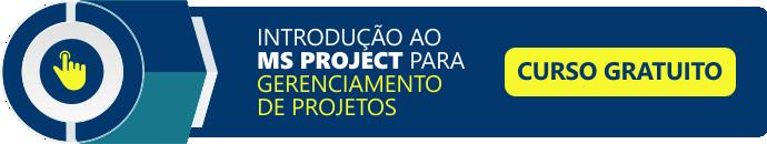 curso introdução ao MS Project para gerenciamento de projetos