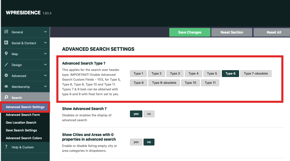 WiResidence Advanced Search