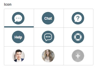 Under project style you can see various other chat icons