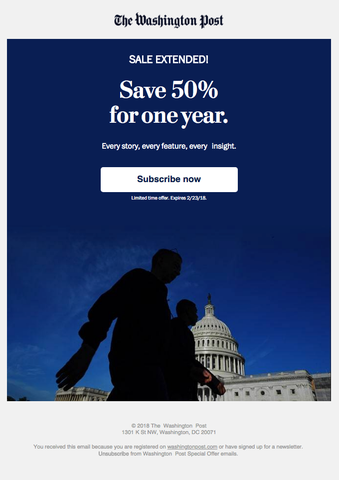 The Washington Post email example