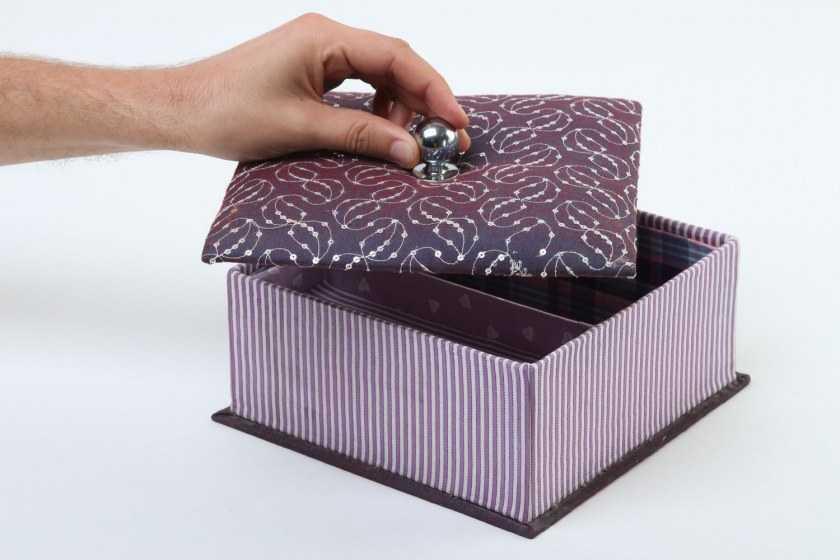 Шкатулка из обувной коробки своими руками