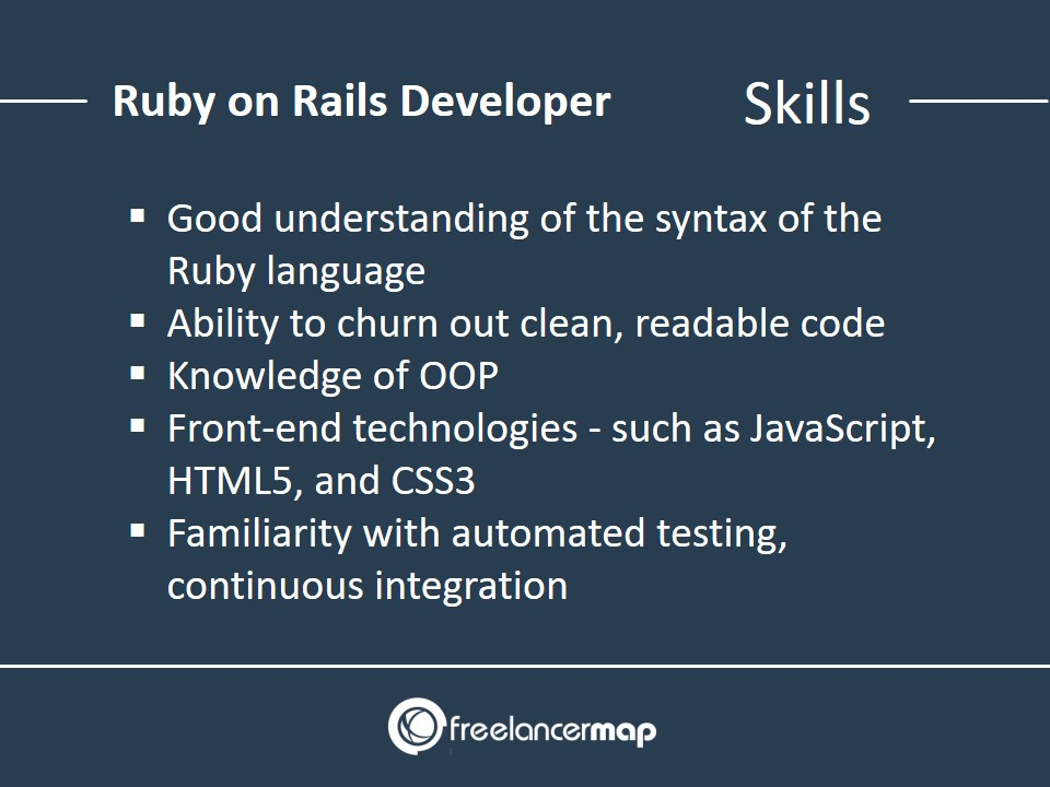 Ruby on Rails Developer - Skills