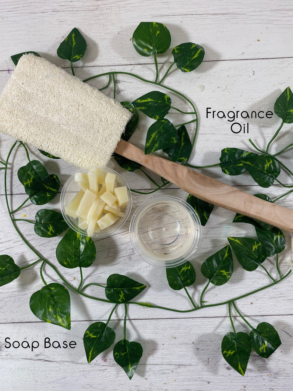 Soap base and fragrance oil to make hand soap