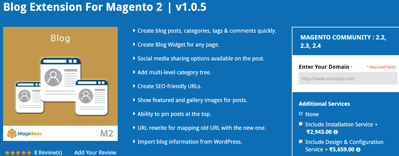 Blog Extension For Magento 2 by Magebees