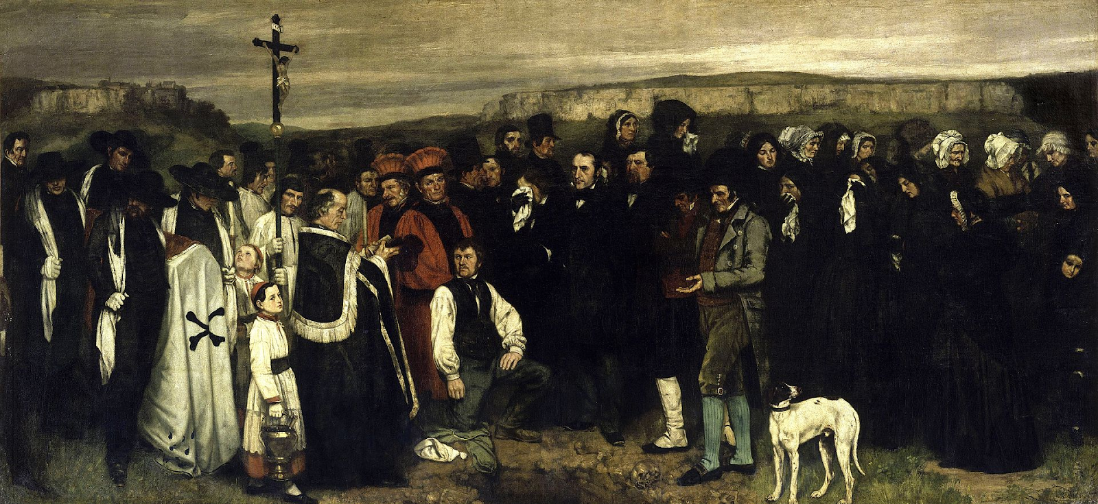 Gustave Courbet  Burial at Ornans