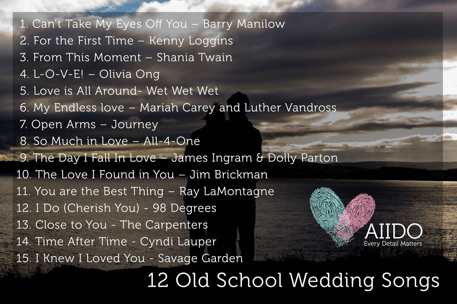 12 Old School Wedding Songs Jpg