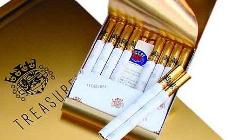 7 Merek Rokok Termahal di Dunia - Treasurer Alumnium Gold