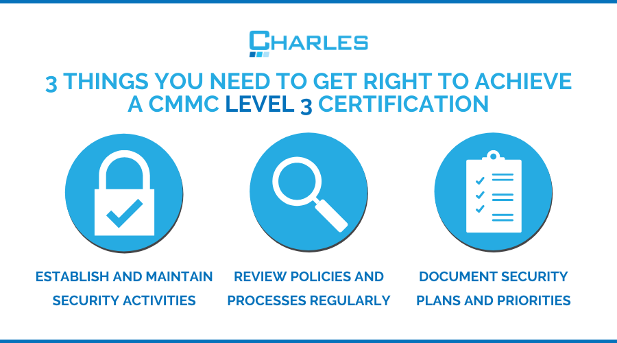3 Things You Need to Get Right to Achieve CMMC Level 3 Certification