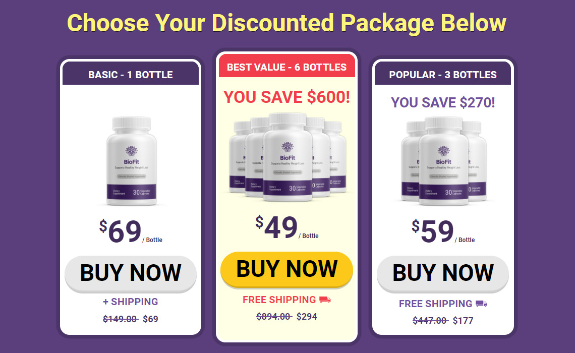 BioFit Probiotic Discounted Packages
