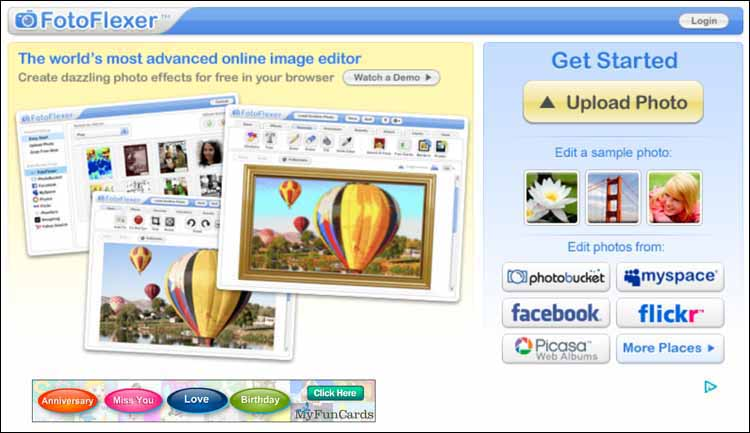 fotoflexer 16 Melhores Editores de Fotografia Gratis para Utilização Online