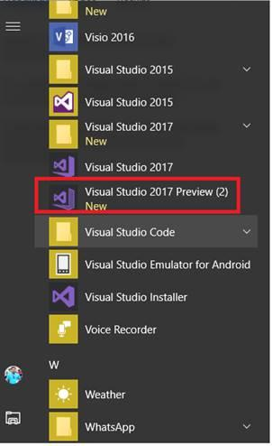 xamarin studio code templates - getting started with building bots using visual studio 2017