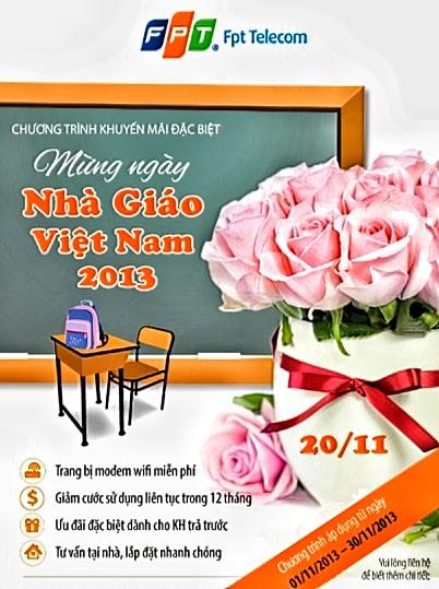 Chúc mừng ngày 20/11 cùng Internet FPT Hà Nội