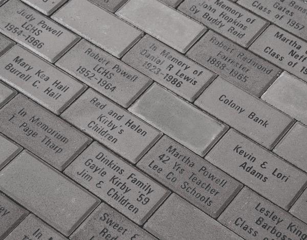 Picture of sample walkway bricks