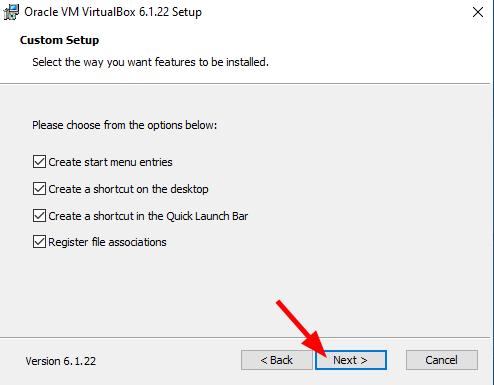 Virtual Hacking Lab - VirtualBox installation Custom Setup. Source: nudesystems.com