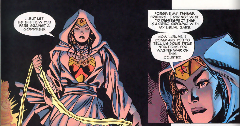 Wonder Woman covers for the mosque