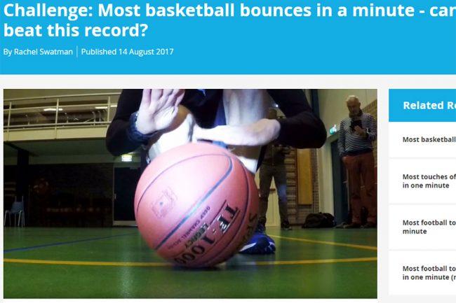 毎秒10回! バスケで衝撃のギネス記録 1分間に609回バウンド「ドラムロールだ…」 | THE ANSWER スポーツ文化・育成&総合ニュースサイト  - (2)
