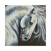 canvas painting design - Majestic Stallion