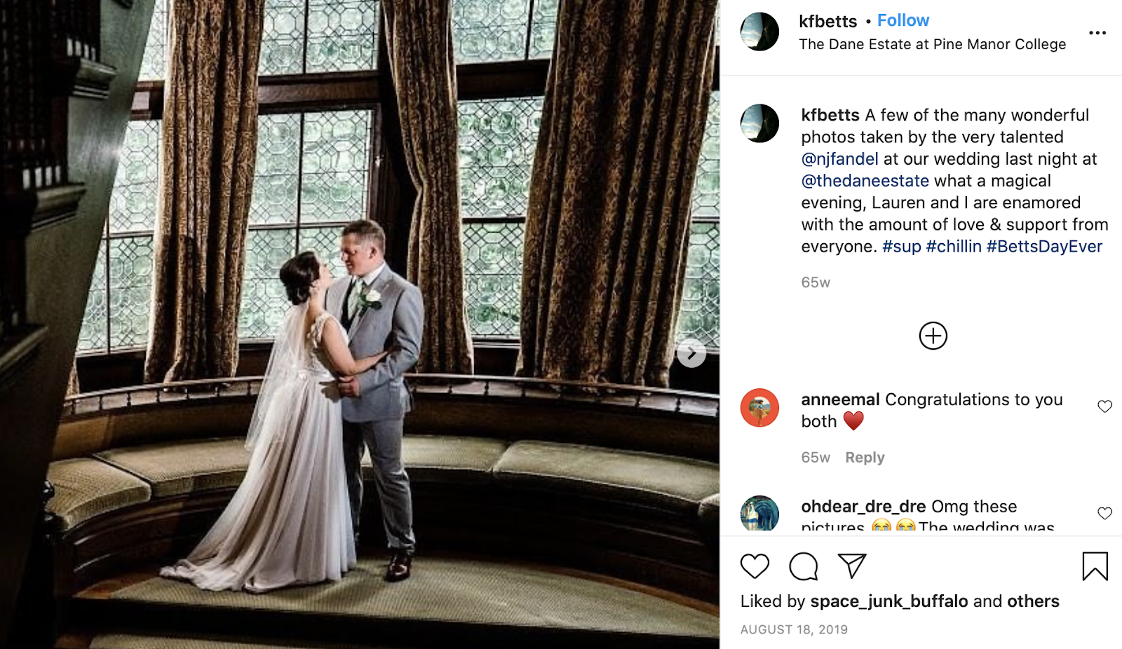 The Betts' hashtag created by The Wedding Hashers
