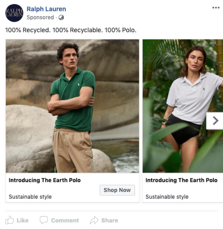 Ralph Lauren social media