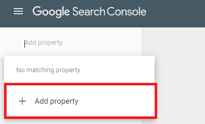 """""""Add property"""" section of drop down menu"""