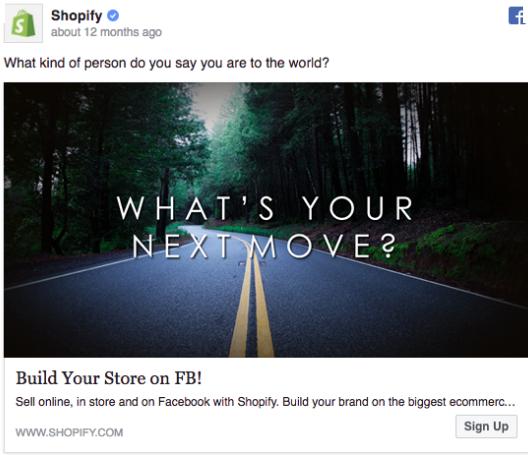 Shopify - Facebook ad example 3