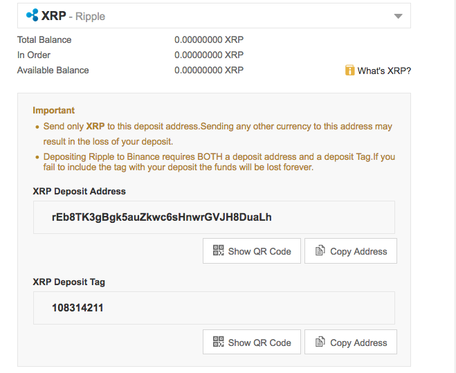 Trading Ripple on Binance