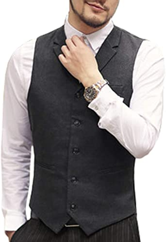 Executive casual leather vest outfit