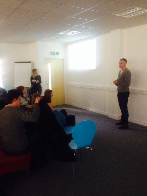 Ollie presents as part of Zealify SME Open Day